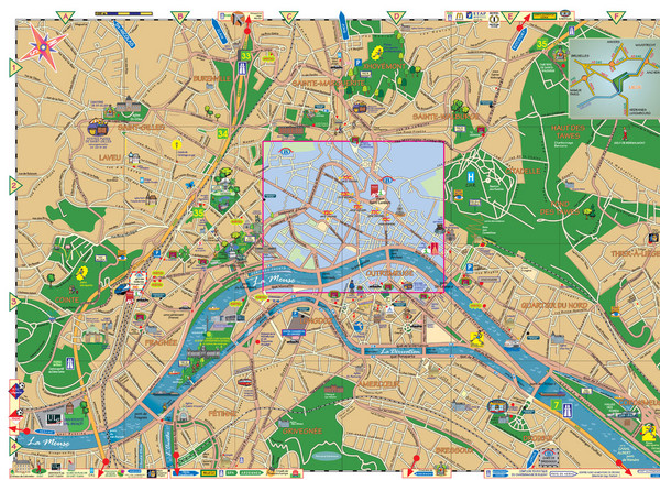 map of belgium cities. Fullsize Liege City Map