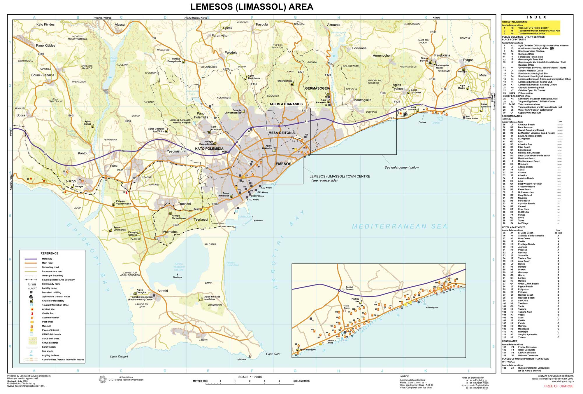 Limassol Cyprus  city pictures gallery : Limassol Cyprus Tourist Map Limassol • mappery