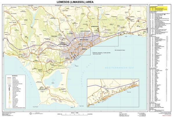 Limassol, Cyprus Tourist Map