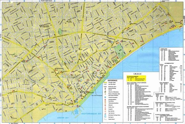 Limassol Tourist Map