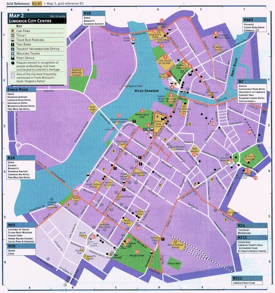 Limerick Tourist Map Limerick Ireland mappery – Tourist Map Of Ireland