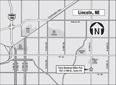 Lincoln, Nebraska Map