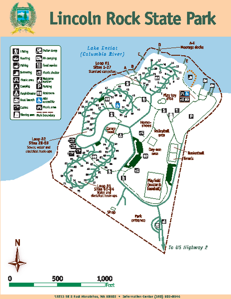 Lincoln Rock State Park Map
