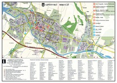 Liptovsky Mikulas Tourist Map
