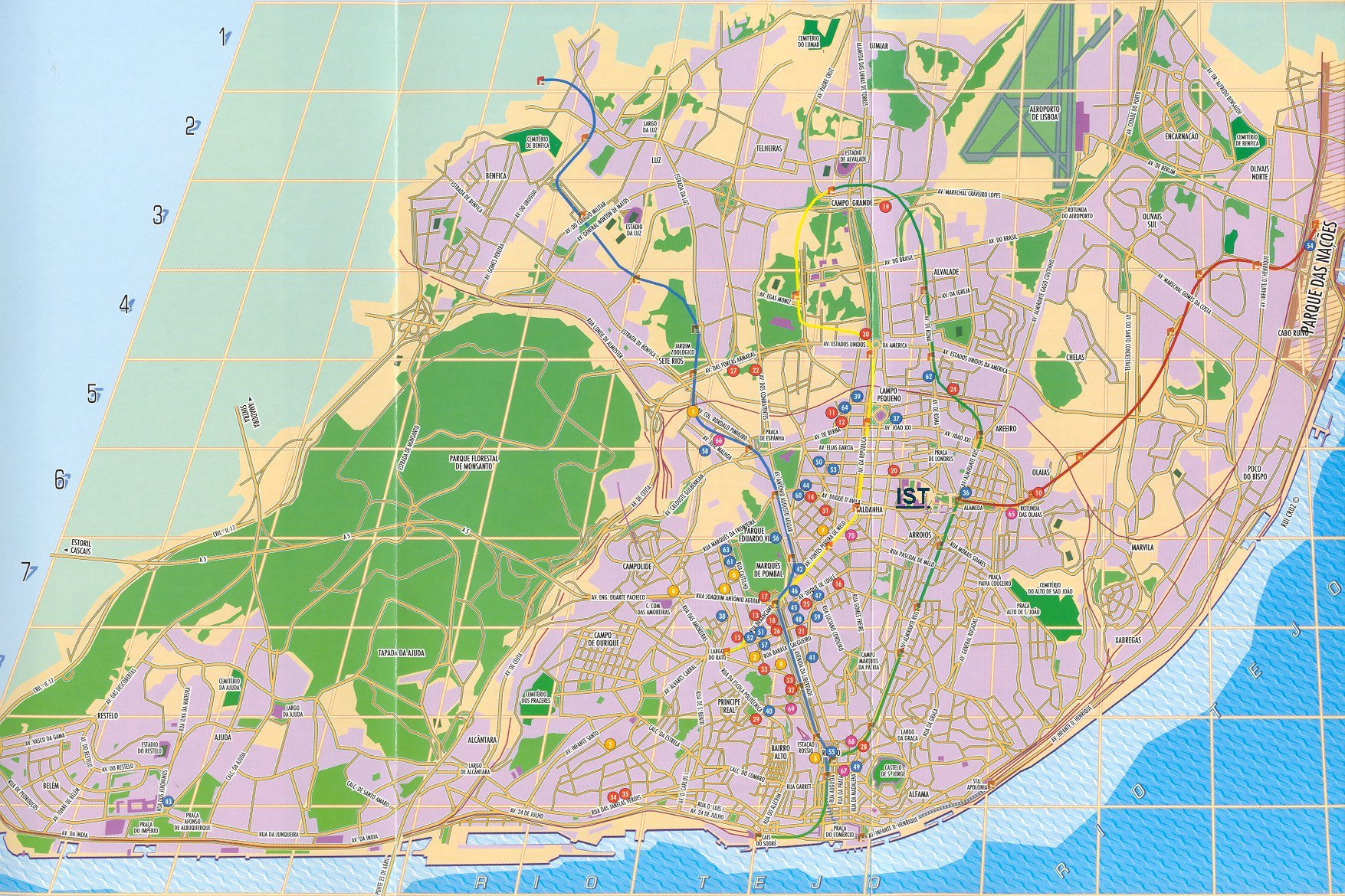 portugal maps lisbon – Lisbon Tourist Attractions Map