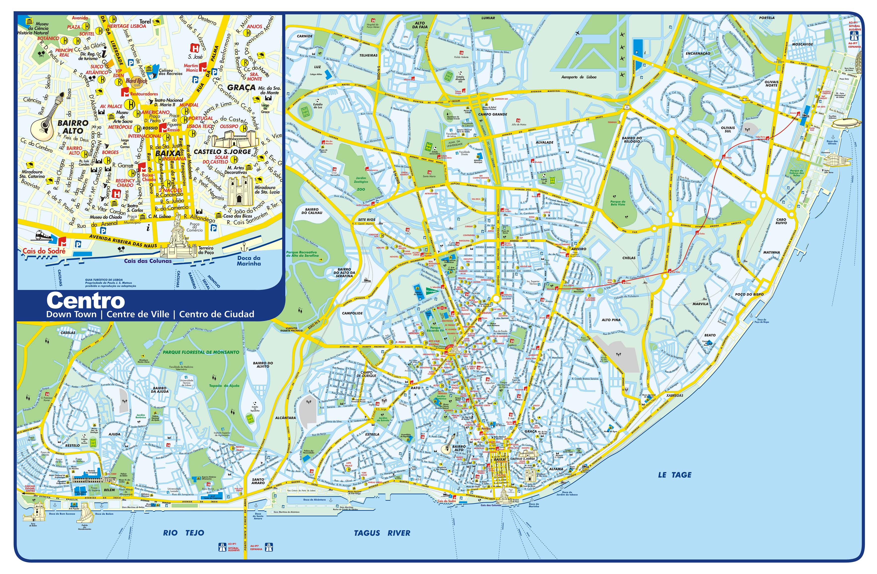 Lisbon Tourist Map Lisbon Portugal mappery – Portugal Tourist Map