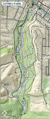 Lithia Park Trail Map