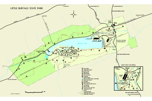 Little Buffalo State Park map