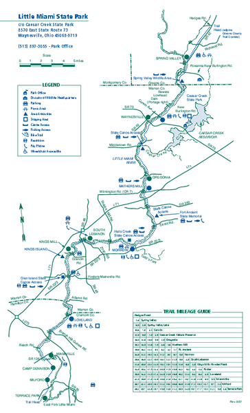 Little Miami State Park map