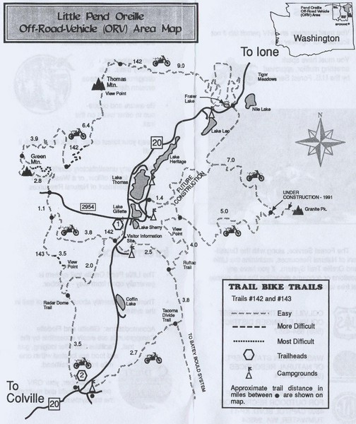 Little Pend Oreille Off Road Vehicle (ORV) Area Map