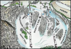 Little Switzerland Back Ski Trail Map