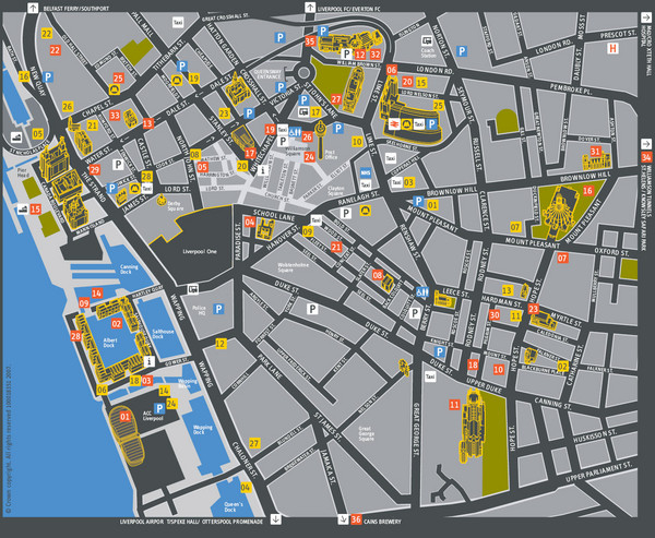 Liverpool Tourist Map