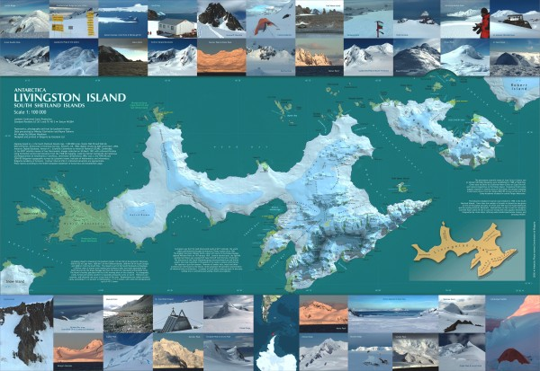 Livingston Island Ice Cover Map