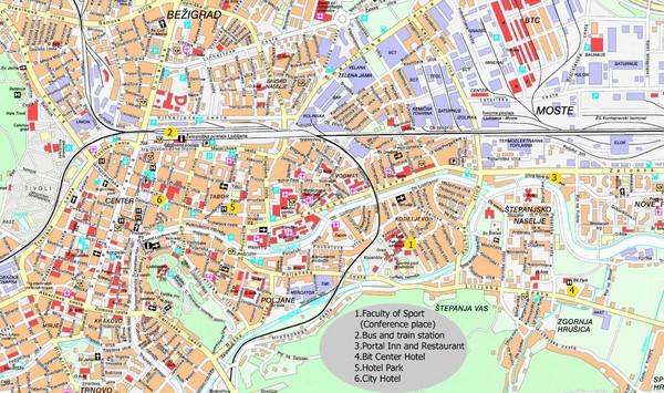 Ljubljana Map | Maps Ljubljana Map