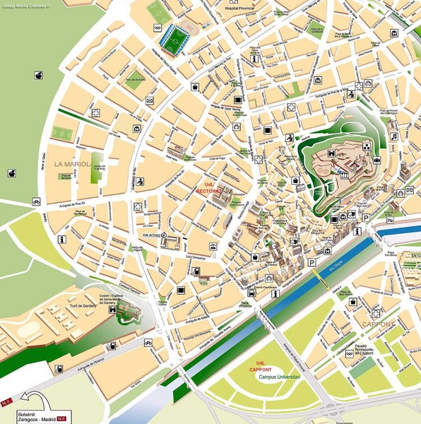 real life map collection mappery – Tourist Map Of Cordoba Spain
