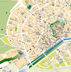 Lleida Tourist Map