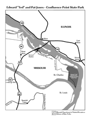 Locator Map for Jones-Confluence Point State Park