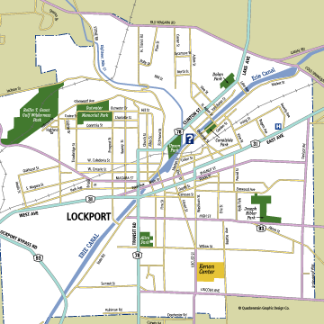 Lockport, New York Map