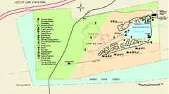 Locust Lake State Park map