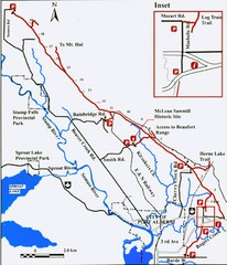 Log Train Trail Map