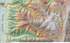 Logan Peak Trail Run Map 2009