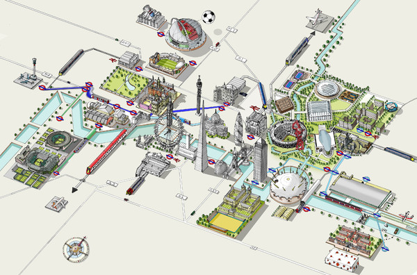 London 2012 Olympic venues map