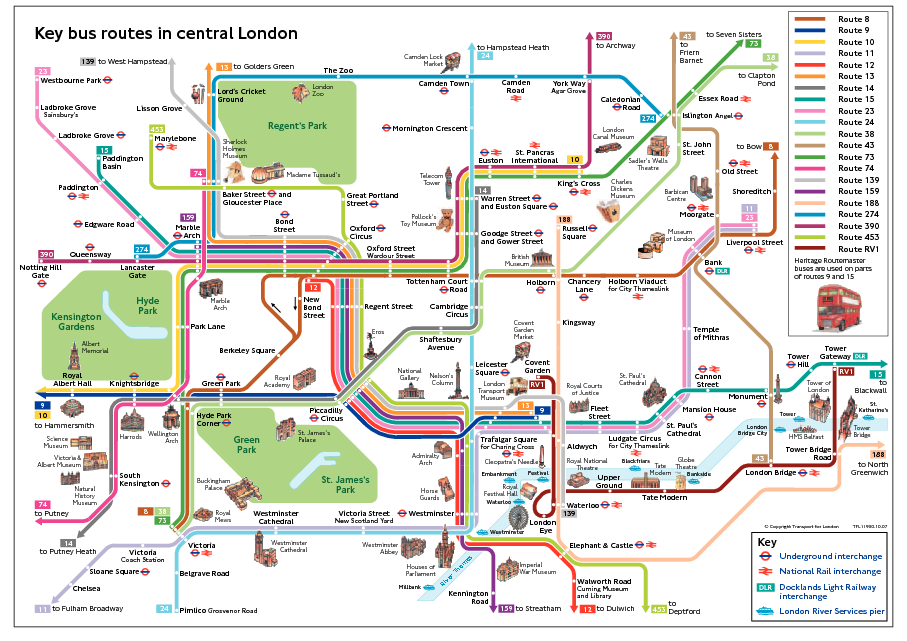 to see a map of london bus routes click here