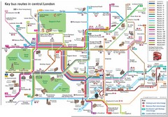 London Central Bus Routes Map