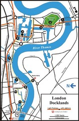 London Docklands Tourist Map