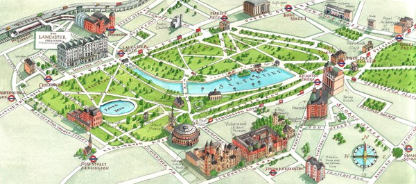 London Hyde Park map