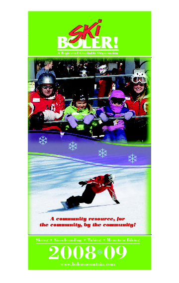 London Ski Club at Boler Mountain and Brochure Ski Trail Map