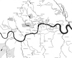 London Subterranean Rivers Map