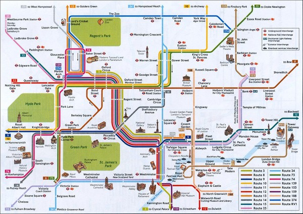 Tourist Map Of London England.London Tourist Map London England Mappery