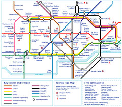 London Tourist Tube Map
