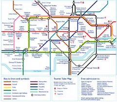 london tourist tube map