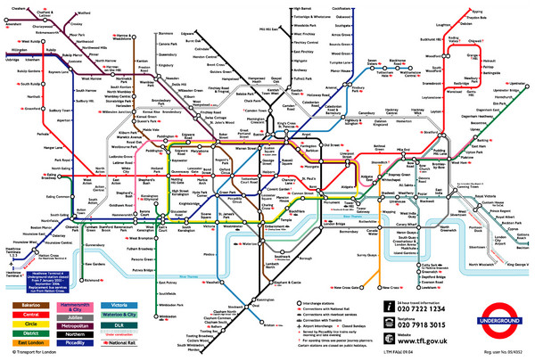 London Underground Transportation Map London mappery – London Tourist Map Pdf