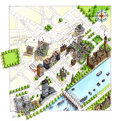 London Westminster Map