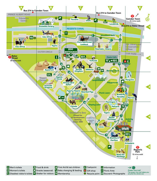 Regents Park Map Regent039s Park London mappery