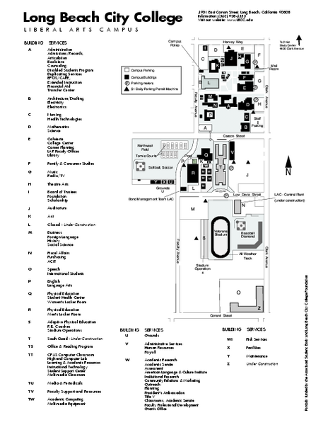Long Beach City College - Liberal Arts Campus Map