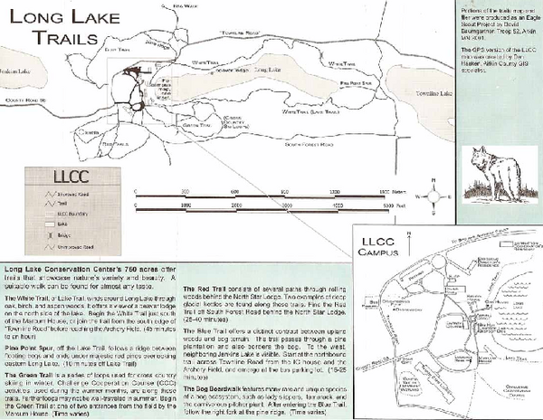 Long Lake Trails Map