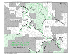 Long Ridge Open Space Preserve Map