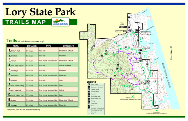 Lory State Park Trail Map