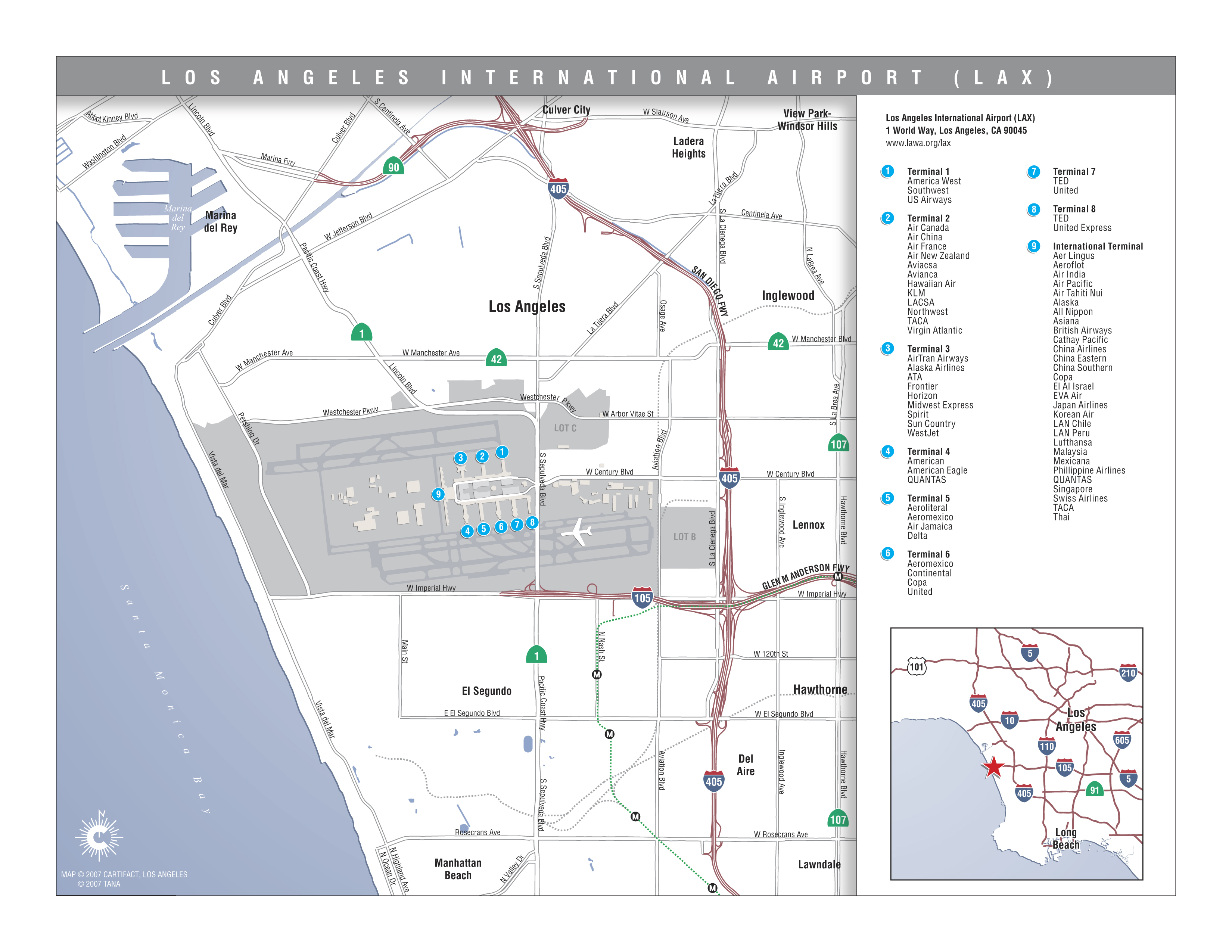 Los Angeles Area Airports Map Indiana Map