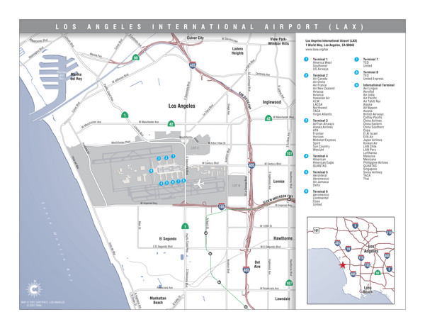 Map La Area Airports