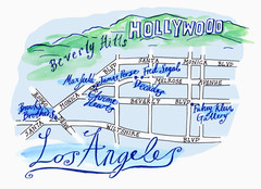 Los Angeles - hand drawn map