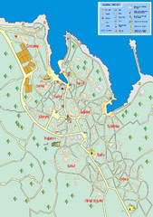 Losinj Tourist Map