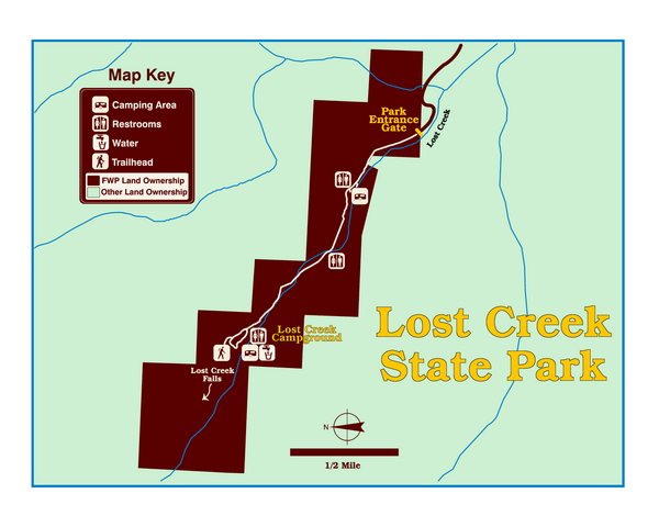 Lost Creek State Park Map