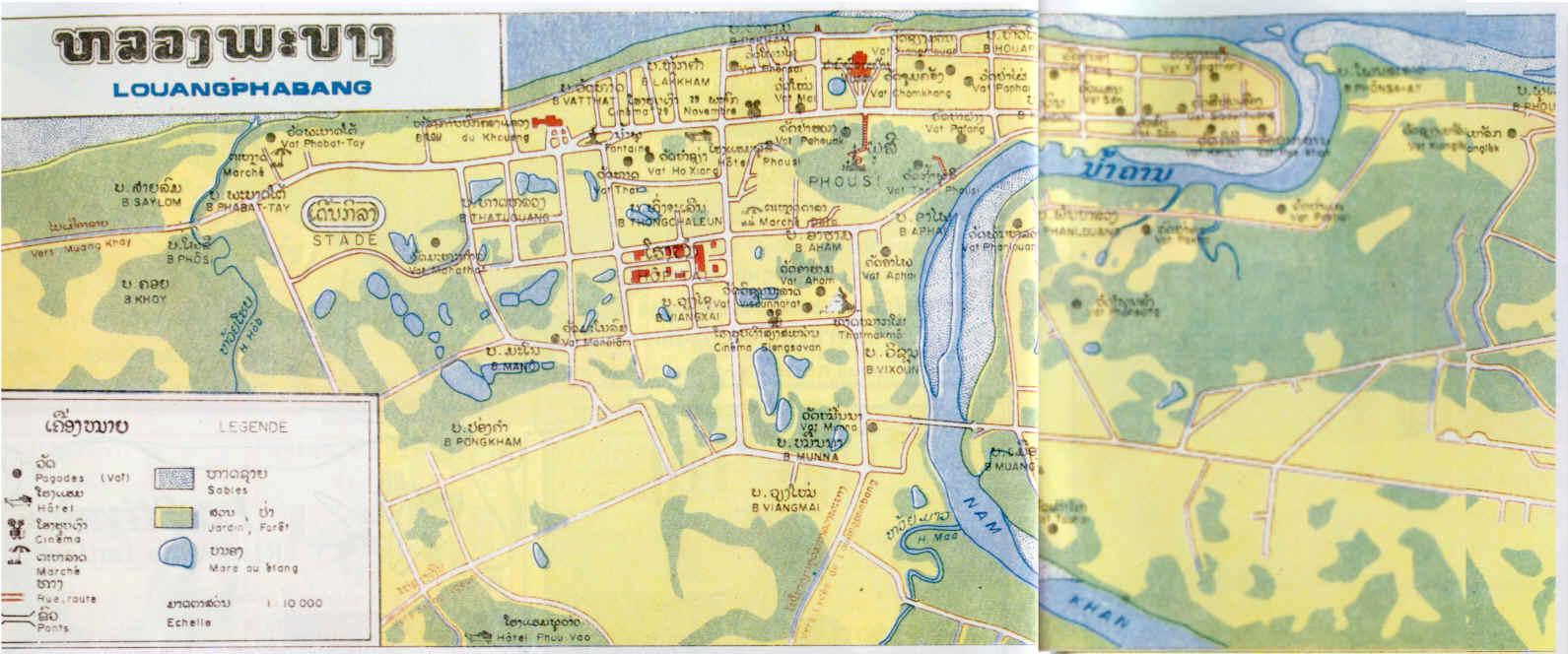 Louangphrabang Tourist Map Louangphrabang mappery