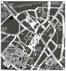 Loughborough Town Centre Map