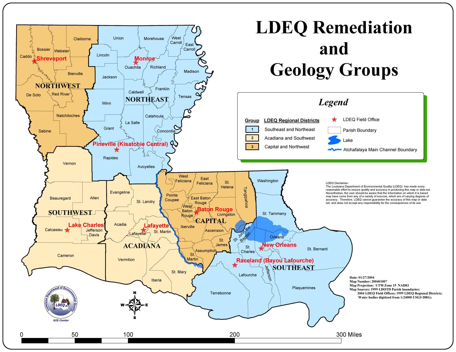 Louisiana Map  Louisiana USA  Mappery